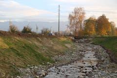 Das Bachbett des Hornbachs ist deutlich breiter geworden. (Bild: Sandro Büchler)