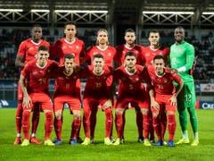Die Schweizer Nationalmannschaft trat gegen die Weltnummer 96 Katar nicht in Bestbesetzung an (Bild: KEYSTONE/ENNIO LEANZA)