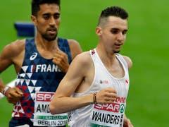 Der Genfer Julien Wanders (rechts) ist Europarekordhalter über 10 km auf der Strasse (Bild: KEYSTONE/WALTER BIERI)