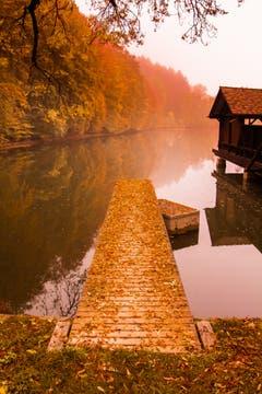 Herbst an den Drei Weiern. (Bild: Urs Rohner)