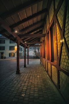 Das Mühleggbähnli zu einer Zeit, wo St.Gallen noch schläft. (Bild: Remo Schläpfer)