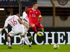 Xherdan Shaqiri brachte nach der Pause zumindest etwas Schwung in das Schweizer Angriffsspiel (Bild: KEYSTONE/PPR/CHRISTIAN MERZ)
