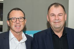 Stefan Biedermann (links) und Stefan Bai, beide CH Media.(Bild: Eveline Beerkircher)
