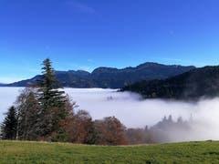 Wunderbare Aussicht bei Lutersarni in der Rengg im Entlebuch. Die Nebelobergrenze liegt bei rund 1000 Metern. (Bild: Urs Gutfleisch (Rengg, 15. November 2018))