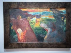 «Begegnung», 1904, Oel auf grober Leinwand. Das Zentrum Paul stellt Bilder des Deutschen Malers Emil Nolde aus. (Bild: KEYSTONE/MARCEL BIERI)