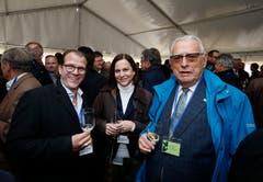 Im Bild: Der Chamer Gemeindepräsident Georges Helfenstein, die Chamer Gemeinderätin Christine Blättler-Müller und Leonz Käppeli. (Bild: Stefan Kaiser (Zug, 15. November 2018))