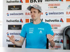 Simon Ammann - weiterhin sind im Schweizer Team alle Augen vorab auf ihn gerichtet (Bild: KEYSTONE/SIGGI BUCHER)