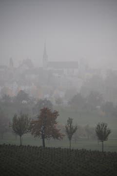 Blick im Nebel vom Schloss Dottenwil gegen Wittenbach. (Bild: Benedict Keel)