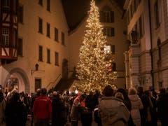 Am 23. November wurde in Lichtensteig die Weihnachtsbeleuchtung eingeweiht. (Bild: Sascha Erni)