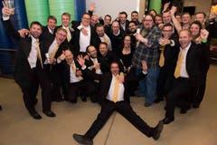 Die Brass Band Bürgermusik Luzern freut sich über den zweiten Platz in der Höchstklasse der gleichzeitig den Sprung an die Europameisterschaft bedeutet. (Bilder: Philippe Dutoit, Montreux, 24. und 25. November 2018)