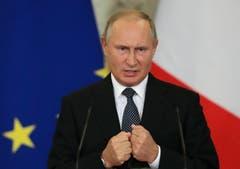 Der russische Präsident Wladimir Putin. (Sergei Chirikov/Pool Photo via AP (Moskau, 24. Oktober 2018))