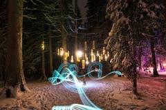 Die Installation «Silva» lässt den Wald auf Lenzerheide in neuem Licht erscheinen. Sie wurde vom Verein Bildspur erstellt. (Bild: PD)