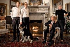Familienbild mit Hund: Michael, Alexander, Caspar und Ljuba Manz (von links) (2008) (c)Graziella Vigo