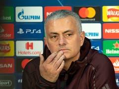 Jose Mourinho, der Headcoach von ManU, wird versuchen wie im ersten Spiel in Bern den Young Boys das Spiel zu verderben (Bild: KEYSTONE/GEORGIOS KEFALAS)