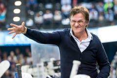 Arno Del Curto beim Eishockeyspiel der National League zwischen dem EV Zug und dem HC Davos im September 2017 in der Bossard Arena in Zug. (Bild: Alexandra Wey/Keystone, Zug, 23. September 2017)