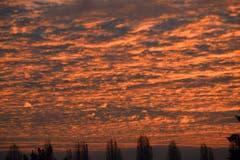 Der Morgenhimmel über Romanshorn. (Bild: Oesch Hansjürg)