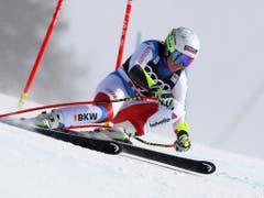 Einen Schritt weiter: Corinne Suter machte in den Teamtrainings einen starken Eindruck (Bild: KEYSTONE/AP/ALESSANDRO TROVATI)