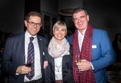 Regierungsrat. Jakob Stark, Nationalrätin Diana Gutjahr und Peter Spuhler, Verwaltungsratspräsident Stadler Rail AG.