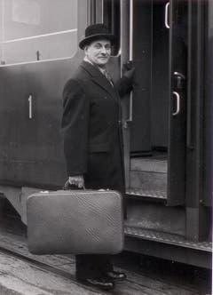 Ludwig von Moos (1910-1990) war der bisher einzige Bundesrat aus Obwalden. Der CVP-Politiker war zwischen 1959 und 1971 Mitglied der Landesregierung. Vor seiner Wahl in den Bundesrat war von Moos Stände- und Regierungsrat. (Bild: Josef Reinhard)