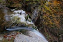 Der Rotbach in Teufen: Oben am Höchfall bei Niedrigwasser. (Bild: Franz Häusler)