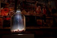 Mäusewein. Diese Spezialität aus China wird so hergestellt: Mäuse in eine Flasche, Reiswein drauf, gären lassen.