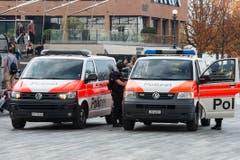 Beim Zürcher Verlagshaus Ringier läuft ein Grosseinsatz der Polizei (Bild: BRK News)