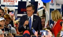 Mitt Romney, Republikanischer Senator von Utah und früherer Präsidentschaftskandidat, nach seinem Wahlsieg. (Bild: AP/Gene Sweeney Jr, Utah, 6. November 2018)