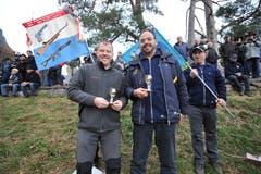Die Bechergewinner der Sektion Luzern: Erwin Emmenegger (links) und Markus Musi. (Bild: Urs Hanhart, 7. November 2018)