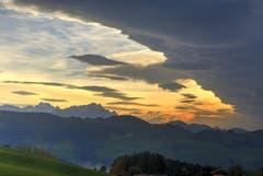 Abendstimmung über dem Alpstein. (Bild: Fredy Zünd)