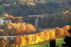 Herbstlicht auf den Sitterbrücken. (Bild: Wolfgang Ponader)