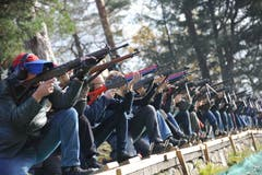 1148 Schützen nahmen beim Rüttlischiessen teil. (Bild: Urs Hanhart, 7. November 2018)