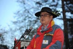 Der Urner Landesstatthalter und Regierungsrat Urban Camenzind hielt die Festansprache. (Bild: Urs Hanhart, 7. November 2018)