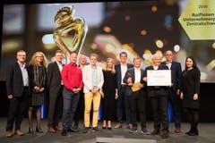 Alle sechs Finalisten anlässlich der feierlichen Preisverleihung in der Viscosistadt.