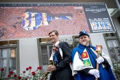 Mike Hauser (links) und Kari Bründler organisieren dieses Jahr das Blues Festival. Zudem ist Hauser Präsident des Luzerner Fasnachtskomitees und Kari Bründler ist