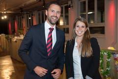 Louis Grosjean, Leiter Segmentsmanagement Firmenkunden, mit Natalie Baur, Beraterin Marketing, Raiffeisen Schweiz.