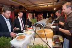 Für jeden Geschmack etwas: Das vielfältige Buffetangebot der Tavolago AG erfreute sich grosser Beliebtheit.