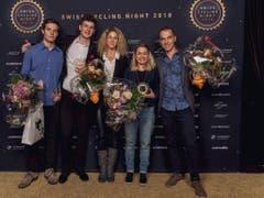 Die Preisträger lassen sich an der Swiss Cycling Night feiern