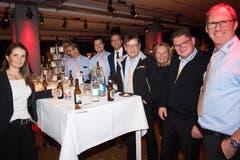 Am Gössi-Tisch freute man sich über den gewonnenen Publikumspreis.