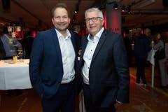 Marcel Lüscher, Leiter Raiffeisenbank Sempachersee Süd, und Kurt Sidler, Vorsitzender der Raiffeisen Verbandspräsidenten.