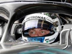 Valtteri Bottas war am Freitag der schnellste Fahrer im Training (Bild: KEYSTONE/AP/ANDRE PENNER)