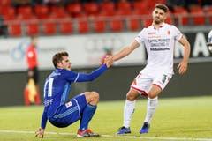 Pascal Schürpf im Spiel gegen den FC Sion. (KEYSTONE/Cyril Zingaro)