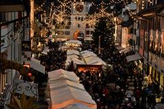 Adventsstimmung in Willisau. (Bild: Alfred Herzog (Willisau, 8. Dezember 2018))