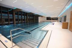 Im Indoor-Pool werden die Urschner Kinder den obligatorischen Schwimmunterricht besuchen. (Bild: Urs Hanhart (Andermatt, 11. Dezember 2018))