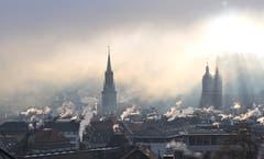 Ein kalter Morgen in St.Gallen. (Bild: Jakob Hagmann)