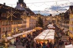 Lichterglanz im Städtli Willisau (Bild: Priska Ziswiler-Heller (Willisau, 7. Dezember 2018))