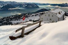 Der erste Schnee auf der Rigi. (Bild: Marco Schäfer (Rigi Kulm, 28. November 2018))