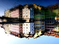 Spieglein, Spieglein: Luzern ist doch die schönste Stadt. (Bild: Walter Buholzer (Luzern, 24. Oktober 2018))