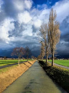 Winterwetter an der Rietach. (Bild: Toni Sieber)