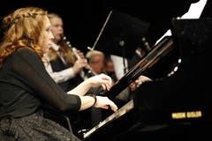 Rebekka Mattli, Solistin am Konzert mit dem Titel One Night In New York des Musikvereins Seedorf. (Bild: Florian Arnold, 1.12.2018)