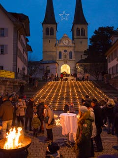 «Eine Million Sterne» in Luzern. (Bild: Priska Ziswiler-Heller (15. Dezember 2018))